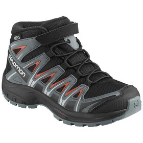 Salomon XA Pro 3D Mid CSWP Shoes Kids Black/Stormy Weather/Cherry Tomato